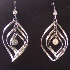 Vtg Silver Twirl Earrings, Gorgeous!!